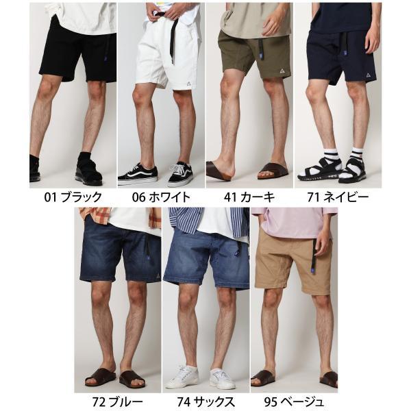 ショートパンツ メンズ ハーフパンツ クライミングパンツ デニム チノパン 短パン 無地 ワンポイント GERRY ジェリー ファッション (7558-7559)|zip|02