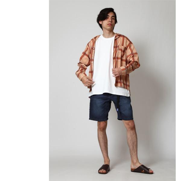 ショートパンツ メンズ ハーフパンツ クライミングパンツ デニム チノパン 短パン 無地 ワンポイント GERRY ジェリー ファッション (7558-7559)|zip|09