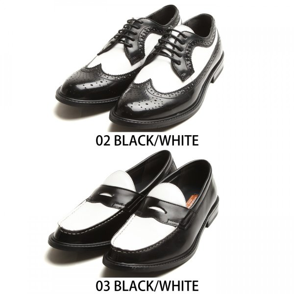 ドレスシューズ メンズ ローファー ウィングチップ ホワイト ブラック フォーマル カジュアル コインローファー ファッション (801-802-803)|zip|02