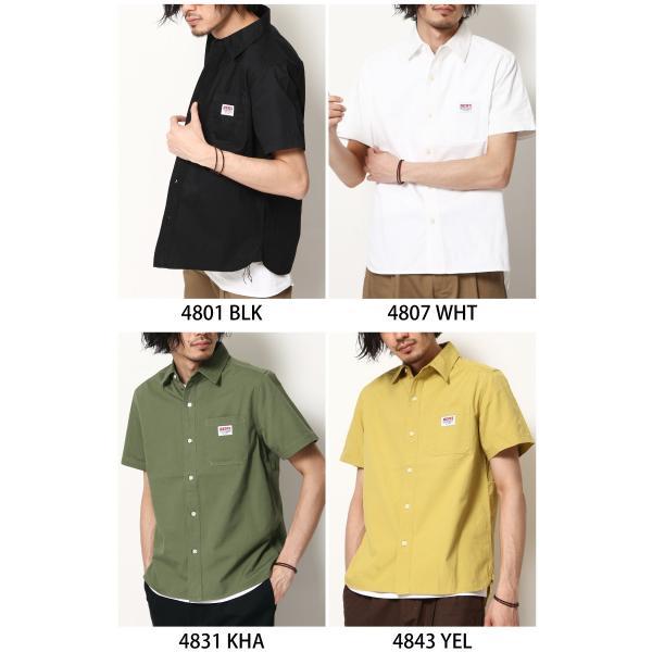ワークシャツ メンズ シャツ カジュアルシャツ 半袖 無地 ストライプ 別注 ワンポイントBEN DAVIS ベンデイビス ファッション (9580048)|zip|02