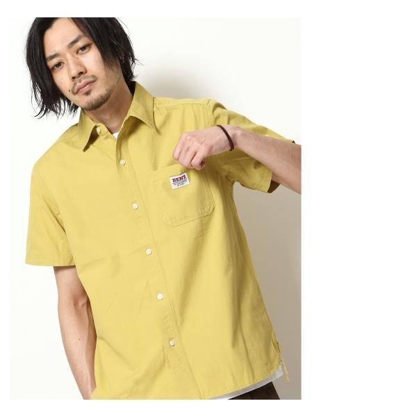 ワークシャツ メンズ シャツ カジュアルシャツ 半袖 無地 ストライプ 別注 ワンポイントBEN DAVIS ベンデイビス ファッション (9580048)|zip|12