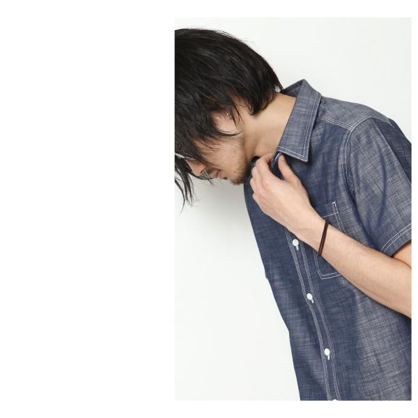 ワークシャツ メンズ シャツ カジュアルシャツ 半袖 無地 ストライプ 別注 ワンポイントBEN DAVIS ベンデイビス ファッション (9580048)|zip|14