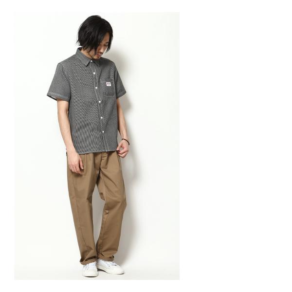 ワークシャツ メンズ シャツ カジュアルシャツ 半袖 無地 ストライプ 別注 ワンポイントBEN DAVIS ベンデイビス ファッション (9580048)|zip|15