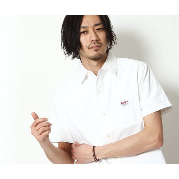 ワークシャツ メンズ シャツ カジュアルシャツ 半袖 無地 ストライプ 別注 ワンポイントBEN DAVIS ベンデイビス ファッション (9580048)|zip|10