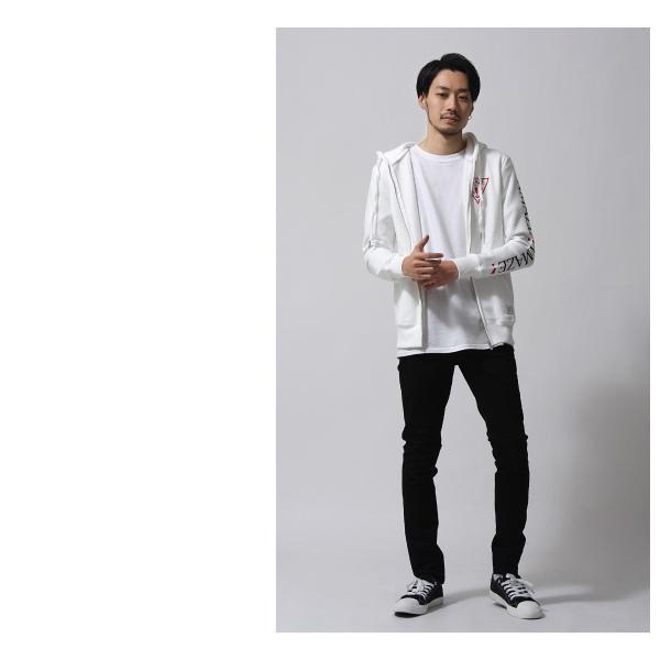 ジップアップパーカー メンズ パーカー ジップアップ 裏起毛 長袖 プリント 袖プリント フード ロゴ ジュンハシモト ファッション (azc-819)|zip|08