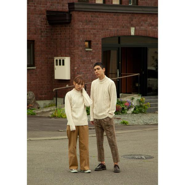 セーター メンズ ニット ケーブルニット モックネック ハイネック 長袖 無地 ユニセックス ファッション (blz-1902) 2bh|zip|12