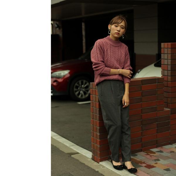 セーター メンズ ニット ケーブルニット モックネック ハイネック 長袖 無地 ユニセックス ファッション (blz-1902) 2bh|zip|15