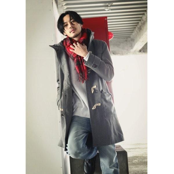 ダッフルコート メンズ コート ロングコート ロング丈 ダッフル アウター 無地 ウールコート ファッション (br1004)|zip|15
