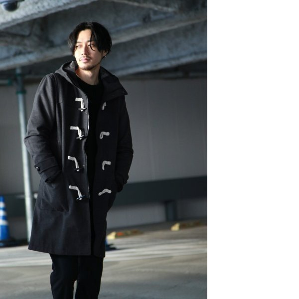 ダッフルコート メンズ コート ロングコート ロング丈 ダッフル アウター 無地 ウールコート ファッション (br1004)|zip|16