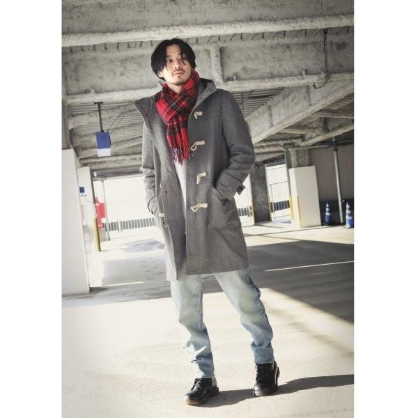 ダッフルコート メンズ コート ロングコート ロング丈 ダッフル アウター 無地 ウールコート ファッション (br1004)|zip|17