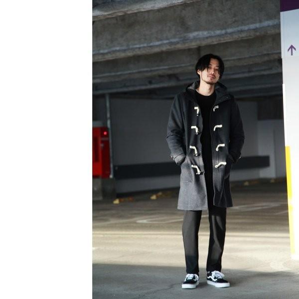 ダッフルコート メンズ コート ロングコート ロング丈 ダッフル アウター 無地 ウールコート ファッション (br1004)|zip|18