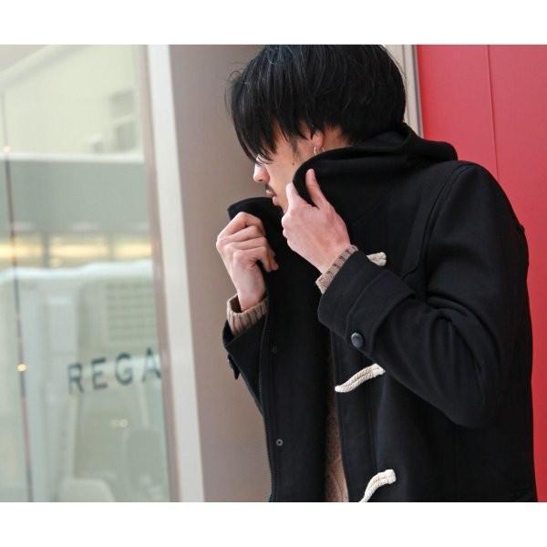 ダッフルコート メンズ コート ロングコート ロング丈 ダッフル アウター 無地 ウールコート ファッション (br1004)|zip|19