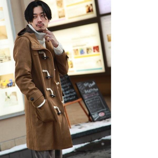 ダッフルコート メンズ コート ロングコート ロング丈 ダッフル アウター 無地 ウールコート ファッション (br1004)|zip|07