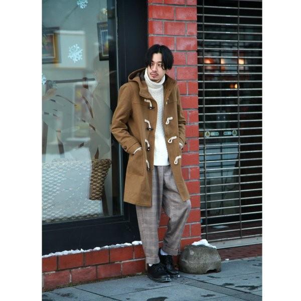 ダッフルコート メンズ コート ロングコート ロング丈 ダッフル アウター 無地 ウールコート ファッション (br1004)|zip|09
