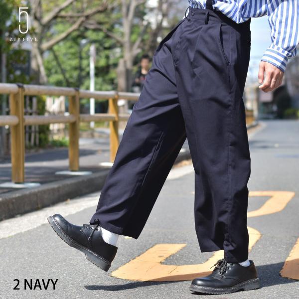 ガウチョパンツ メンズ ワイドパンツ ボトムス アンクル丈 ズボン サスペンダー ビッグシルエット スーツ地 ファッション ポイント消化 (br1006) zip
