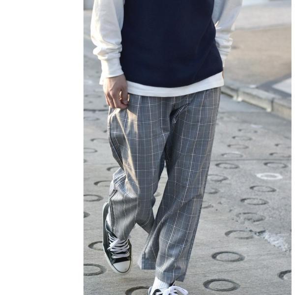 ガウチョパンツ メンズ ワイドパンツ ボトムス アンクル丈 ズボン サスペンダー ビッグシルエット スーツ地 ファッション ポイント消化 (br1006) zip 19