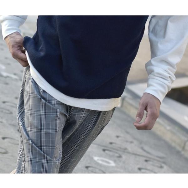 ガウチョパンツ メンズ ワイドパンツ ボトムス アンクル丈 ズボン サスペンダー ビッグシルエット スーツ地 ファッション ポイント消化 (br1006) zip 20