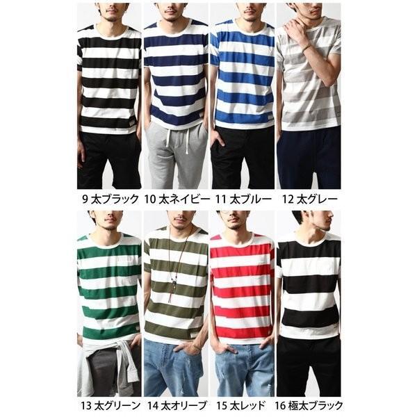 # Tシャツ メンズ カットソー 半袖Tシャツ ボーダー クルーネック  おしゃれ 白 黒 S M L XL XXL 送料無料 (br6000)|zip|03