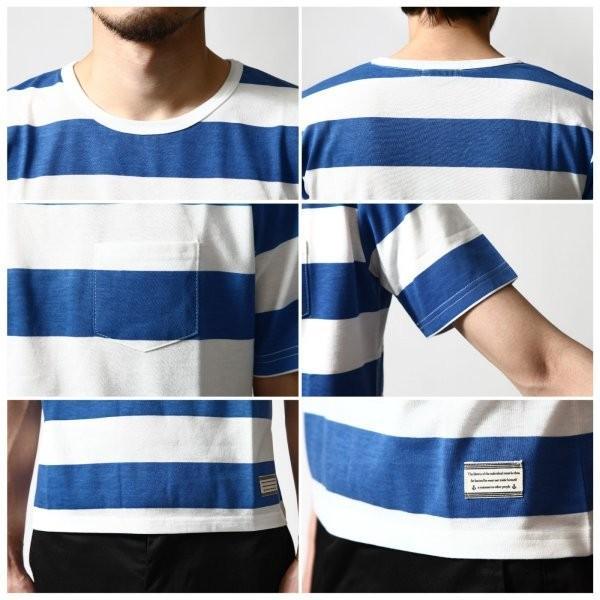# Tシャツ メンズ カットソー 半袖Tシャツ ボーダー クルーネック  おしゃれ 白 黒 S M L XL XXL 送料無料 (br6000)|zip|05