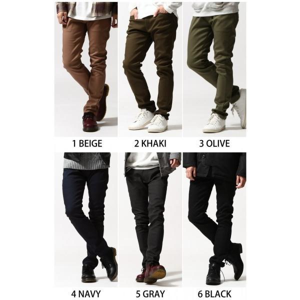 スキニーパンツ メンズ 暖パンツ 裏起毛 パンツ フリース ストレッチ スリムパンツ スキニー ファッション (br6073)|zip|02