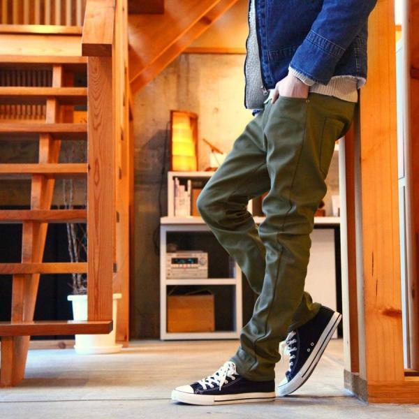 スキニーパンツ メンズ 暖パンツ 裏起毛 パンツ フリース ストレッチ スリムパンツ スキニー ファッション (br6073)|zip|05