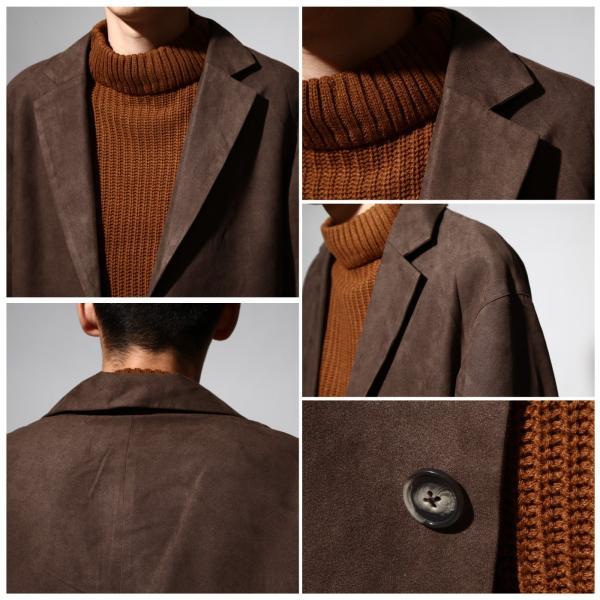 チェスターコート メンズ オーバーコート チェスターフィールド ビッグシルエット ファッション (br8025)|zip|03