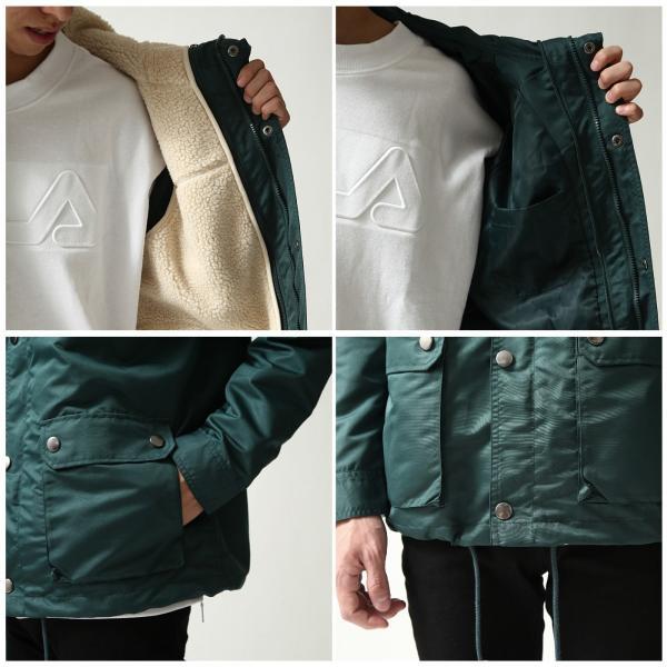 マウンテンパーカー メンズ マンパー パーカー ジャケット ブルゾン 撥水 ボア 暖か 無地 カモフラ 迷彩 ファッション (br8031) zip 04