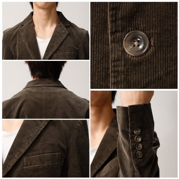 テーラードジャケット メンズ ジャケット テーラード 本切羽 コーデュロイジャケット ブレザー ストレッチ 無地 (br8060)|zip|03