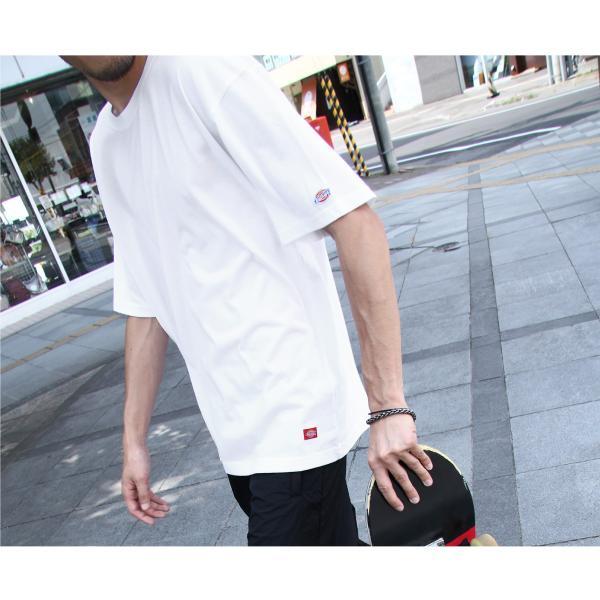 Tシャツ メンズ Tee カットソー 半袖 ワッペン ロゴ シンプル ワンポイント Dickies ディッキーズ 大きいサイズ ビッグ ファッション ポイント消化 (dk006380) D|zip|11