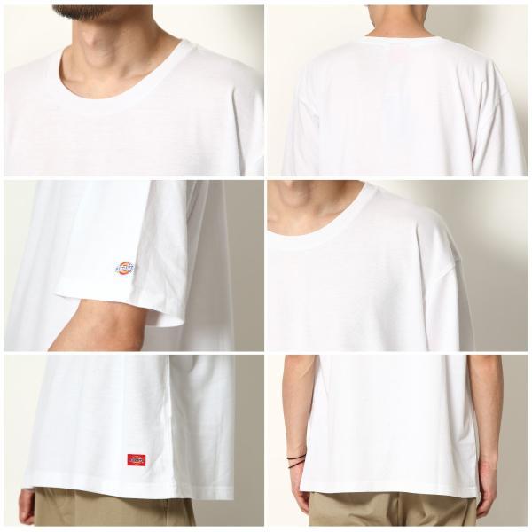 Tシャツ メンズ Tee カットソー 半袖 ワッペン ロゴ シンプル ワンポイント Dickies ディッキーズ 大きいサイズ ビッグ ファッション ポイント消化 (dk006380) D|zip|03