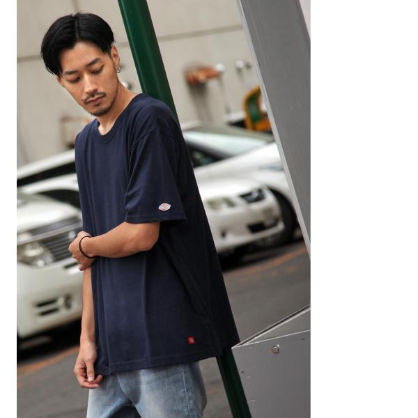 Tシャツ メンズ Tee カットソー 半袖 ワッペン ロゴ シンプル ワンポイント Dickies ディッキーズ 大きいサイズ ビッグ ファッション ポイント消化 (dk006380) D|zip|07