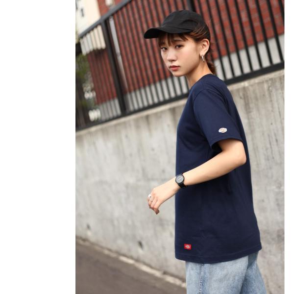 Tシャツ メンズ Tee カットソー 半袖 ワッペン ロゴ シンプル ワンポイント Dickies ディッキーズ 大きいサイズ ビッグ ファッション ポイント消化 (dk006380) D|zip|09