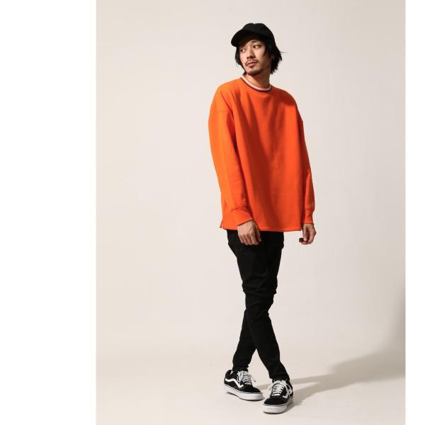トレーナー メンズ スウェット クルーネック 裏起毛 ロゴ刺繍 リンガー 無地 KANGOL スエット ファッション (kgsa-zi1812)|zip|09