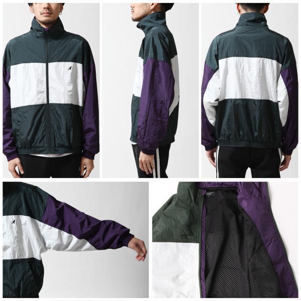 ナイロンジャケット メンズ ブルゾン ナイロン 刺繍 ワンポイント ビッグシルエット ジップアップ KANGOL カンゴール ファッション (kgsa-zi1822) D|zip|06