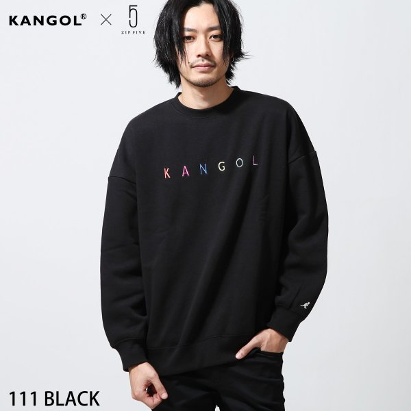 トレーナー メンズ スウェット ビッグシルエット 長袖 スエット 刺繍 裏起毛 あったか ロゴ シンプル KANGOL カンゴール ファッション (kgsa-zi1827)|zip