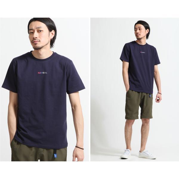 Tシャツ メンズ KANGOL ブランド カットソー シンプル 半袖 クルーネック コットン 刺繍 ロゴ 袖ワッペン カンゴール ファッション (kgsa-zi1908) D|zip|13