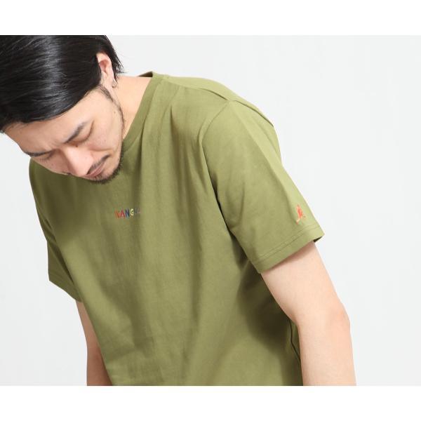 Tシャツ メンズ KANGOL ブランド カットソー シンプル 半袖 クルーネック コットン 刺繍 ロゴ 袖ワッペン カンゴール ファッション (kgsa-zi1908) D|zip|14