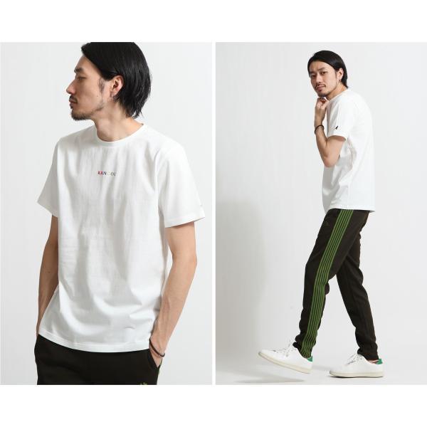 Tシャツ メンズ KANGOL ブランド カットソー シンプル 半袖 クルーネック コットン 刺繍 ロゴ 袖ワッペン カンゴール ファッション (kgsa-zi1908) D|zip|16