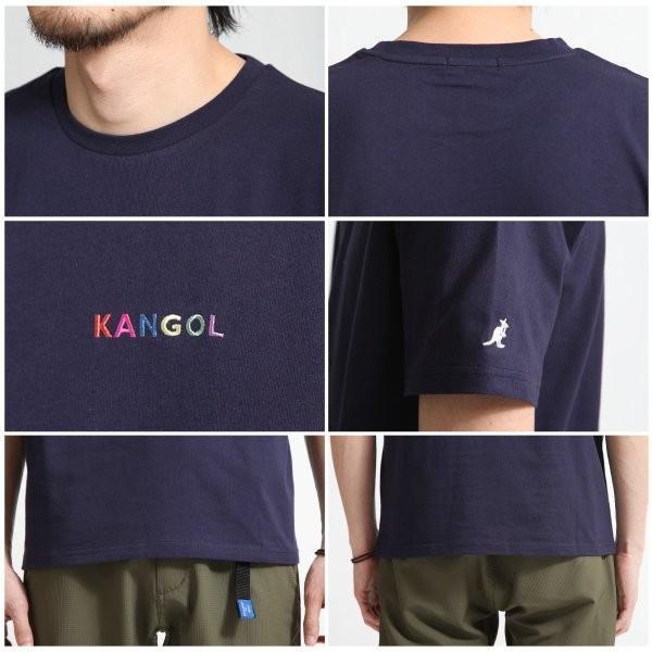 Tシャツ メンズ KANGOL ブランド カットソー シンプル 半袖 クルーネック コットン 刺繍 ロゴ 袖ワッペン カンゴール ファッション (kgsa-zi1908) D|zip|19
