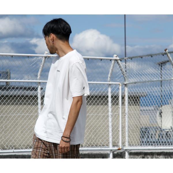 Tシャツ メンズ KANGOL ブランド カットソー シンプル 半袖 クルーネック コットン 刺繍 ロゴ 袖ワッペン カンゴール ファッション (kgsa-zi1908) D|zip|08