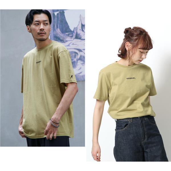 Tシャツ メンズ KANGOL ブランド カットソー シンプル 半袖 クルーネック コットン 刺繍 ロゴ 袖ワッペン カンゴール ファッション (kgsa-zi1908) D|zip|09