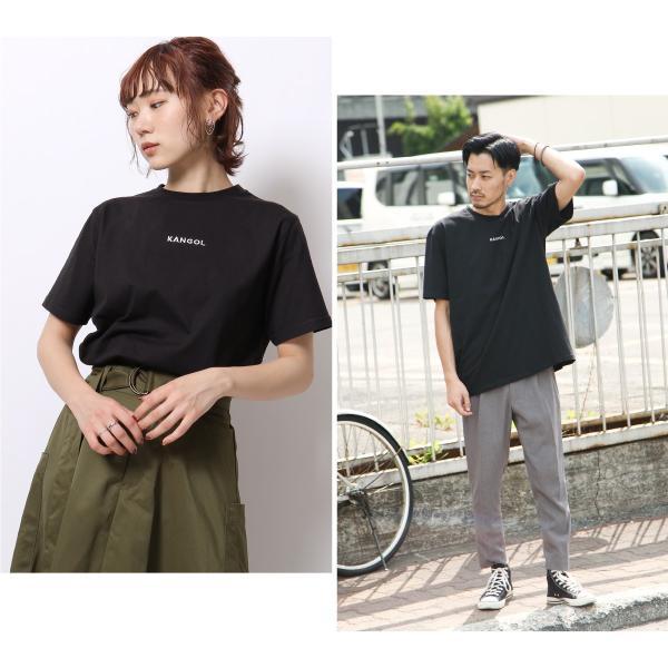 Tシャツ メンズ KANGOL ブランド カットソー シンプル 半袖 クルーネック コットン 刺繍 ロゴ 袖ワッペン カンゴール ファッション (kgsa-zi1908) D|zip|10