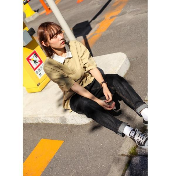 ラガーシャツ メンズ シャツ カジュアルシャツ 半袖 ポロシャツ スポーツ スポーティ ロゴ 刺繍 ビッグシルエット KANGOL ファッション (kgsa-zi1912) D|zip|10