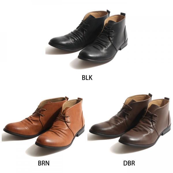ブーツ メンズ チャッカブーツ シューズ 靴 レザーブーツ レースアップ ファッション 新作シューズ (spb070-3)|zip|02