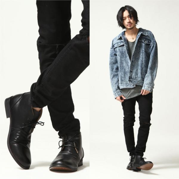 ブーツ メンズ チャッカブーツ シューズ 靴 レザーブーツ レースアップ ファッション 新作シューズ (spb070-3)|zip|05