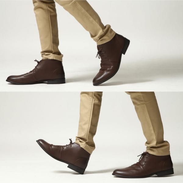 ブーツ メンズ チャッカブーツ シューズ 靴 レザーブーツ レースアップ ファッション 新作シューズ (spb070-3)|zip|06