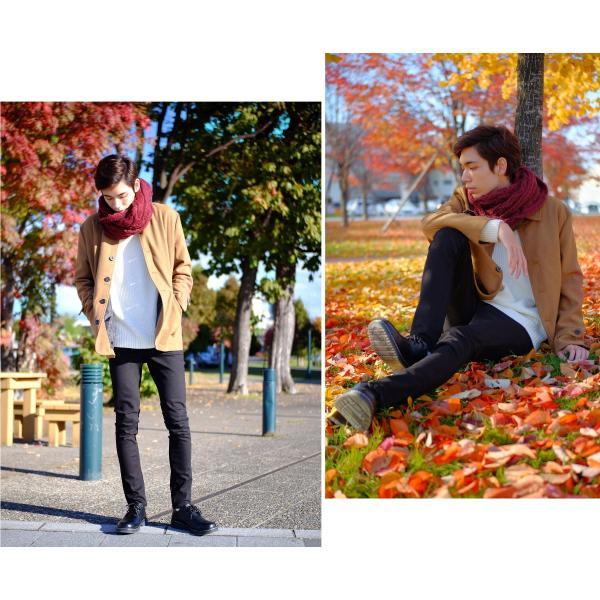 スヌード メンズ ストール マフラー ネックウォーマー モヘア 巻物 ユニセックス 男女兼用 ファッション ポイント消化 (st-0215)|zip|11