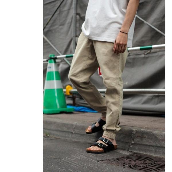 ジョガーパンツ メンズ イージーパンツ ロングパンツ 綿麻 コットンリネン 無地 ファッション 春 夏 涼しい ポイント消化 (zp081703) zip 09