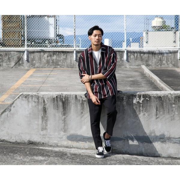 イージーパンツ メンズ アンクルパンツ スラックス 半端丈 ロングパンツ ストレッチ 無地 チェック ファッション (zp081829) D|zip|11