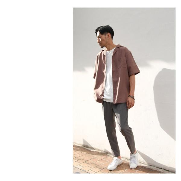 イージーパンツ メンズ アンクルパンツ スラックス 半端丈 ロングパンツ ストレッチ 無地 チェック ファッション (zp081829) D|zip|13